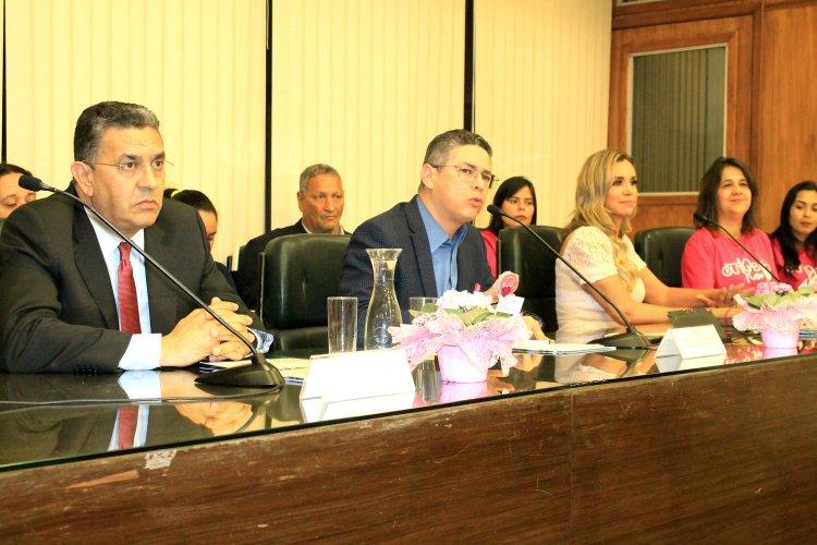 Deputado Estadual Gilmaci Santos, Marcos de Alcântara , Renata Banhara e Carlinda Tinoco